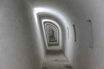 Long hallway with firing positions in the Castle Morro