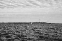 choppy water and bridge