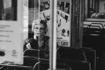 riding a public bus