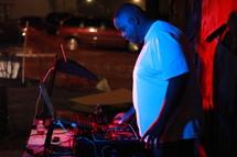 DJ outside.