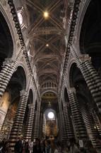 interior of Duomo di Siena cathedral