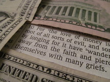 Bible verse - for the love of money is the root of all sorts of evil