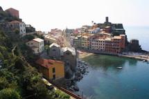 villas along an Italian coastline