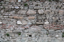 Roman brick and stone work from an ancient fortress