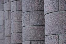 Stone pillars.