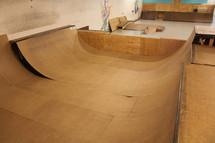 empty skateboard ramps