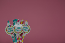 Happy Easter straws