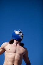 Man in wrestling attire