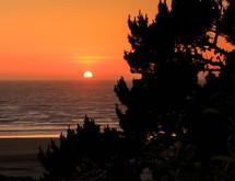 Sherbet sky at sunset