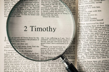 2 Timothy under a magnifying glass