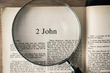2 John under a magnifying glass
