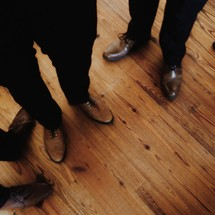 Men in dress shoes.