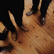 Men in dress shoes.