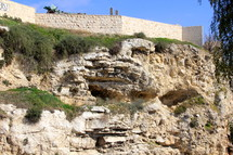 Golgotha, place of the Skull, probably site of Calvary.