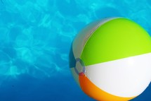 beach ball in a pool