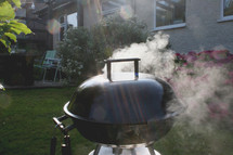 smoke from a charcoal grill