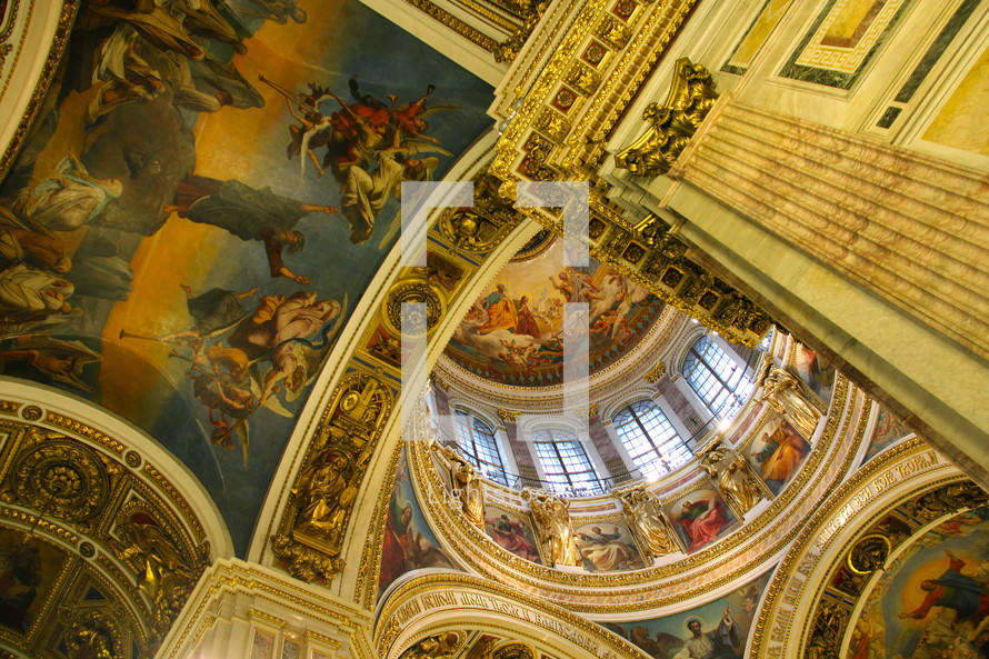 Russian Orthodox Cathedral with frescos and mosaics