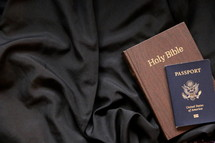 Mission trip passport and Bible