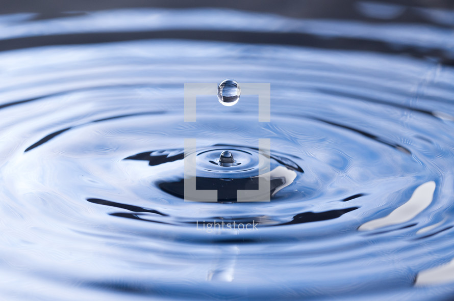 SImple Water Droplets into a Pool of Water