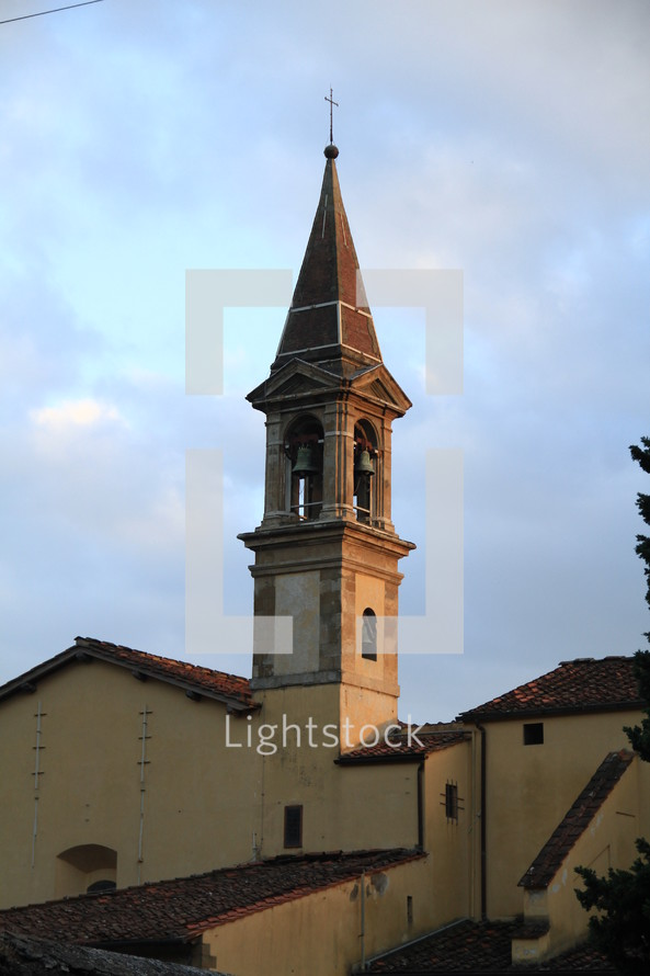 church steeple and bell tower