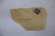 Vintage envelope postmarked from Colorado Springs in 1943.