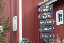 signs at a farm
