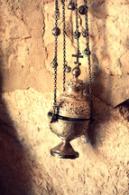 An old censer for an orthodox church in Taybeh, one of the only Arab Christian towns in Palestine
