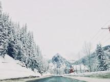A winter scene.