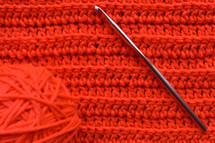 red yarn background