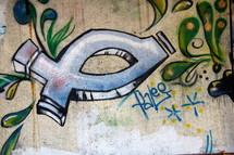 Christian Fish Graffiti