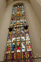 Stained glass from Frauenkirche in Munich, Germany