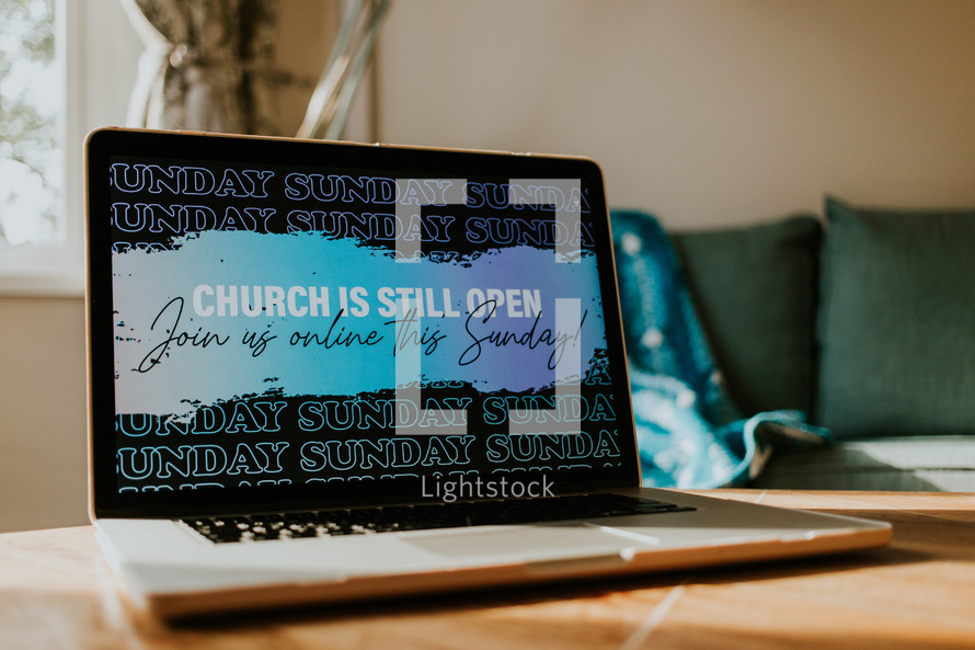 Church is still open, join us online this Sunday!