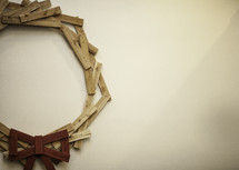 wreath made of wood