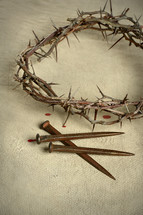 A crown of thorns and nails.