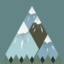 mountains illustration.