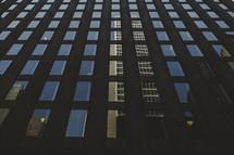 reflection on skyscraper windows