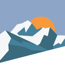 mountain and sunrise vector