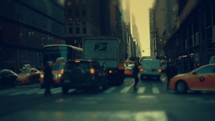 Driving through New York.