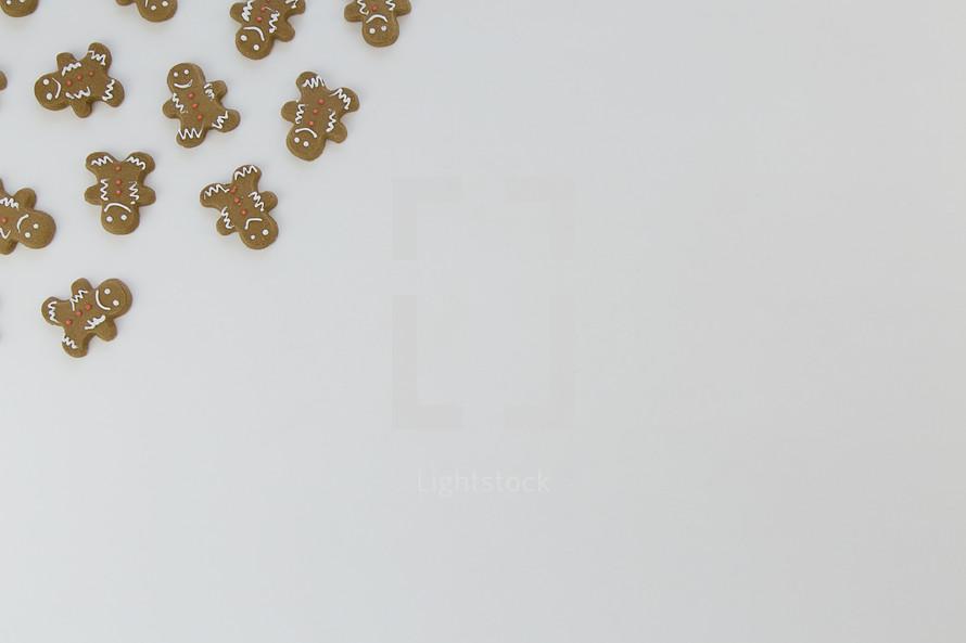ginger bread cookies in a corner