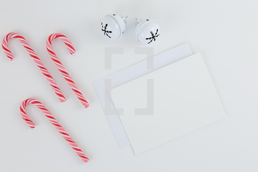 candy canes and envelopes