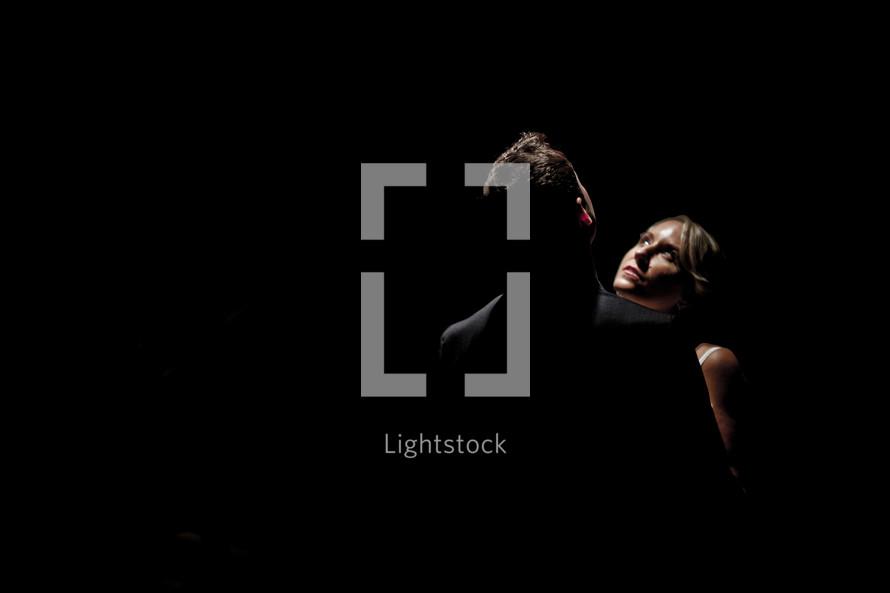 couple under a spotlight