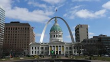 St Louis capitol building and Arch