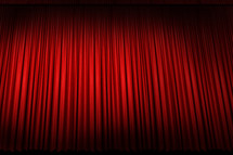 Stage curtain.