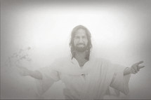 Jesus Christ with open arms.