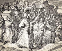 The Fall of Jericho, Joshua 6:12-20