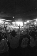 group worship service in a stadium