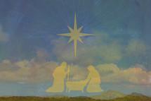 Christmas advent nativity
