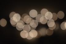 white bokeh lights
