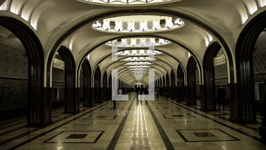 subway station in Moscow, Russia
