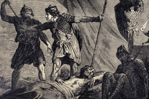 David Spares Saul in the Cave